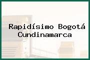 Rapidísimo Bogotá Cundinamarca