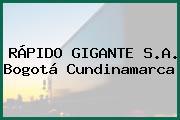 RÁPIDO GIGANTE S.A. Bogotá Cundinamarca