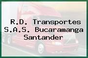 R.D. Transportes S.A.S. Bucaramanga Santander
