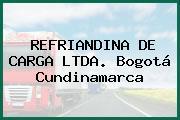 REFRIANDINA DE CARGA LTDA. Bogotá Cundinamarca