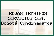 ROJAS TRASTEOS SERVICIOS S.A. Bogotá Cundinamarca