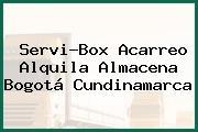 Servi-Box Acarreo Alquila Almacena Bogotá Cundinamarca