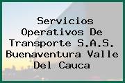 Servicios Operativos De Transporte S.A.S. Buenaventura Valle Del Cauca