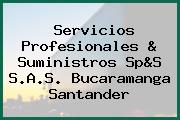 Servicios Profesionales & Suministros Sp&S S.A.S. Bucaramanga Santander