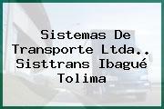 Sistemas De Transporte Ltda.. Sisttrans Ibagué Tolima