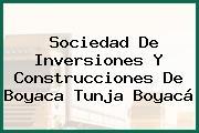 Sociedad De Inversiones Y Construcciones De Boyaca Tunja Boyacá