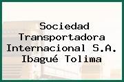 Sociedad Transportadora Internacional S.A. Ibagué Tolima