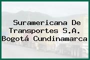Suramericana De Transportes S.A. Bogotá Cundinamarca