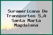 Suramericana De Transportes S.A Santa Marta Magdalena