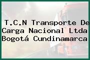 T.C.N Transporte De Carga Nacional Ltda Bogotá Cundinamarca