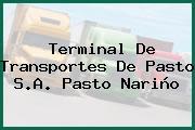 Terminal De Transportes De Pasto S.A. Pasto Nariño