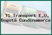TG Transport E.U. Bogotá Cundinamarca