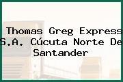 Thomas Greg Express S.A. Cúcuta Norte De Santander