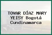 TOVAR DÍAZ MARY YEISY Bogotá Cundinamarca