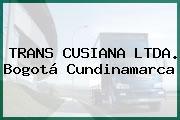 TRANS CUSIANA LTDA. Bogotá Cundinamarca
