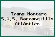 Trans Montero S.A.S. Barranquilla Atlántico