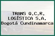 TRANS Q.C.R. LOGÍSTICA S.A. Bogotá Cundinamarca