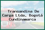 Transandina De Carga Ltda. Bogotá Cundinamarca