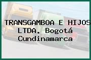TRANSGAMBOA E HIJOS LTDA. Bogotá Cundinamarca