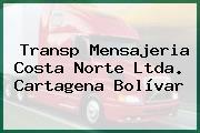 Transp Mensajeria Costa Norte Ltda. Cartagena Bolívar