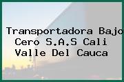 Transportadora Bajo Cero S.A.S Cali Valle Del Cauca