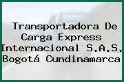 Transportadora De Carga Express Internacional S.A.S. Bogotá Cundinamarca