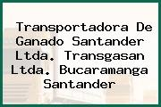 Transportadora De Ganado Santander Ltda. Transgasan Ltda. Bucaramanga Santander
