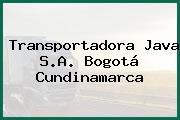 Transportadora Java S.A. Bogotá Cundinamarca