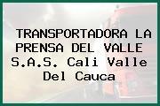 TRANSPORTADORA LA PRENSA DEL VALLE S.A.S. Cali Valle Del Cauca
