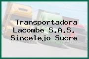 Transportadora Lacombe S.A.S. Sincelejo Sucre