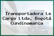 Transportadora Le Cargo Ltda. Bogotá Cundinamarca