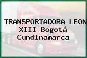TRANSPORTADORA LEON XIII Bogotá Cundinamarca