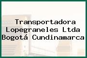 Transportadora Lopegraneles Ltda Bogotá Cundinamarca