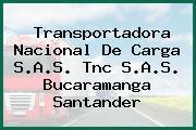 Transportadora Nacional De Carga S.A.S. Tnc S.A.S. Bucaramanga Santander