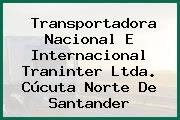 Transportadora Nacional E Internacional Traninter Ltda. Cúcuta Norte De Santander