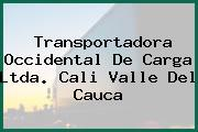 Transportadora Occidental De Carga Ltda. Cali Valle Del Cauca