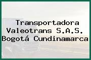Transportadora Valeotrans S.A.S. Bogotá Cundinamarca