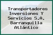 Transportadores Inversiones Y Servicios S.A. Barranquilla Atlántico
