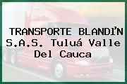 TRANSPORTE BLANDµN S.A.S. Tuluá Valle Del Cauca