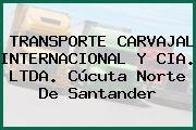 TRANSPORTE CARVAJAL INTERNACIONAL Y CIA. LTDA. Cúcuta Norte De Santander