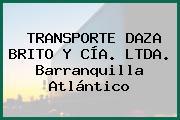 TRANSPORTE DAZA BRITO Y CÍA. LTDA. Barranquilla Atlántico