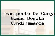 Transporte De Carga Gomac Bogotá Cundinamarca