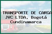 TRANSPORTE DE CARGA JVC LTDA. Bogotá Cundinamarca