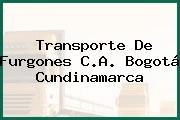 Transporte De Furgones C.A. Bogotá Cundinamarca