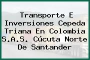 Transporte E Inversiones Cepeda Triana En Colombia S.A.S. Cúcuta Norte De Santander