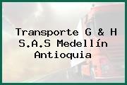 Transporte G & H S.A.S Medellín Antioquia