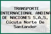 TRANSPORTE INTERNACIONAL ANDINA DE NACIONES S.A.S. Cúcuta Norte De Santander