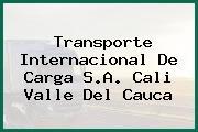 Transporte Internacional De Carga S.A. Cali Valle Del Cauca