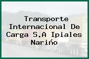 Transporte Internacional De Carga S.A Ipiales Nariño