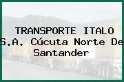 TRANSPORTE ITALO S.A. Cúcuta Norte De Santander
